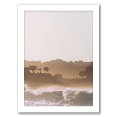 Sunset On Waves by Tanya Shumkina - White Framed Print - Wall Art - Americanflat