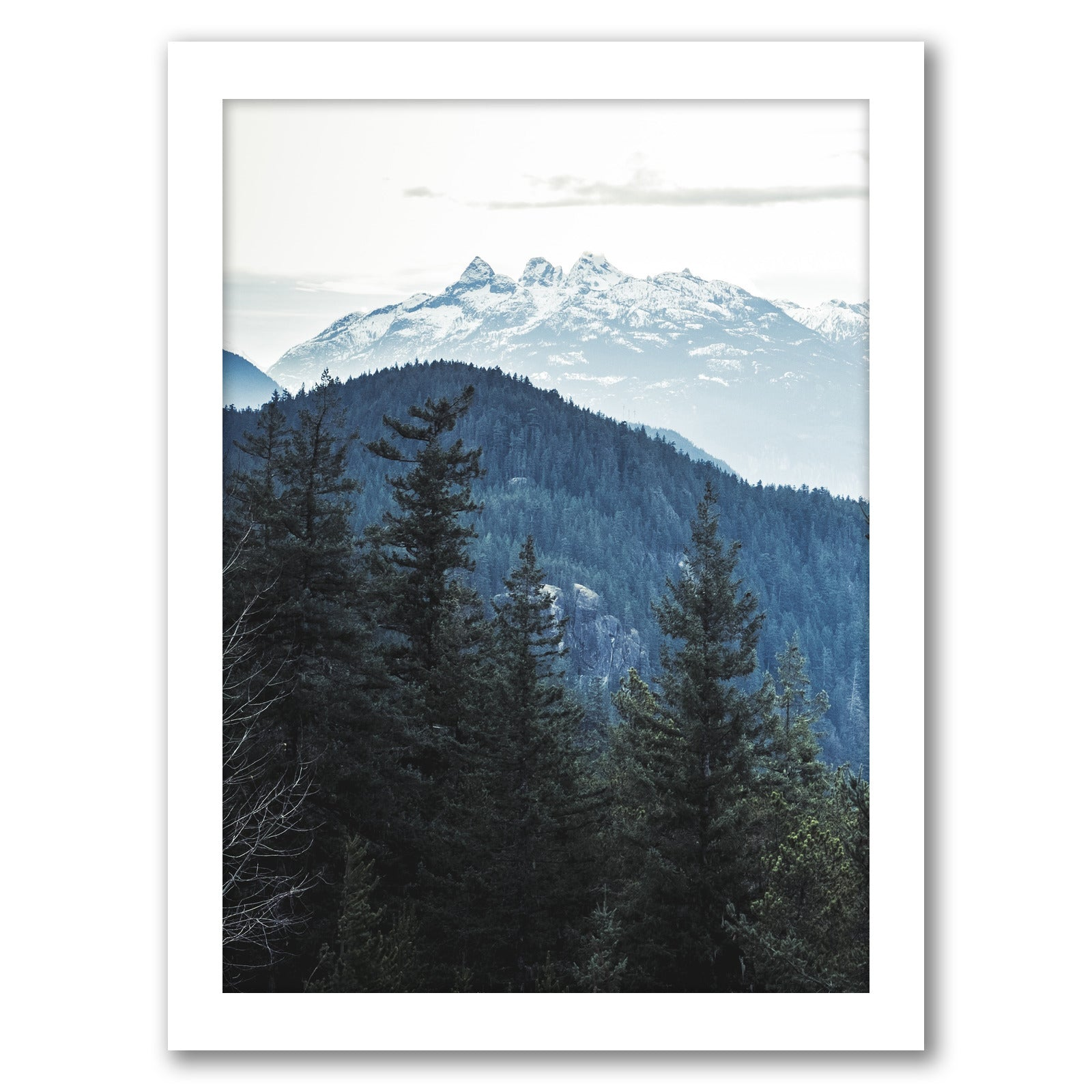 Nordic Landscape by Tanya Shumkina - White Framed Print - Wall Art - Americanflat