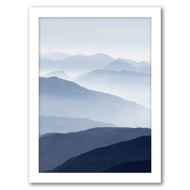 Blue Mountain by Tanya Shumkina - White Framed Print - Wall Art - Americanflat