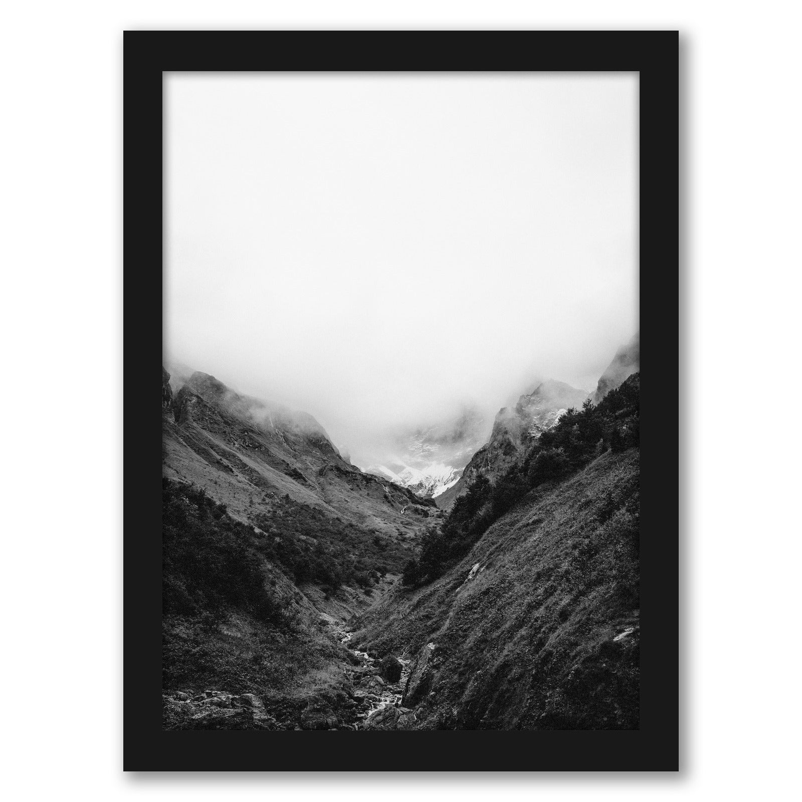 Nordic Forest Scenery by Tanya Shumkina - Black Framed Print - Wall Art - Americanflat