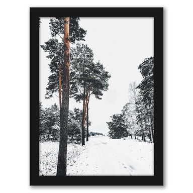 Winter Holidays In Forest by Tanya Shumkina - Black Framed Print - Wall Art - Americanflat