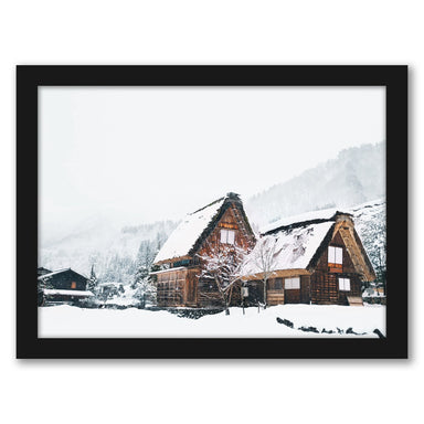 Christmas In Mountains by Tanya Shumkina - Black Framed Print - Wall Art - Americanflat