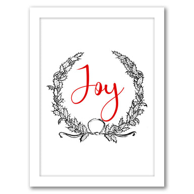 Joy Wreath by Tanya Shumkina - White Framed Print - Wall Art - Americanflat