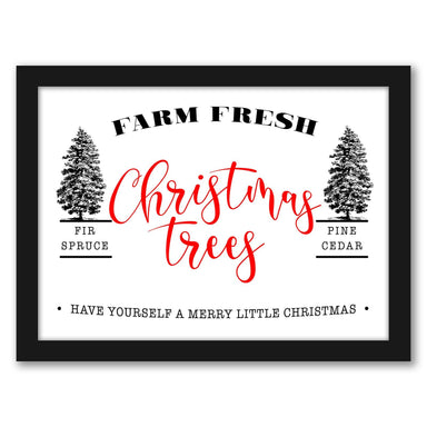 Christmas Trees Farm Fresh by Tanya Shumkina - Black Framed Print - Wall Art - Americanflat