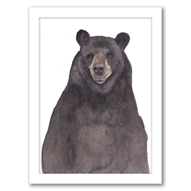 Bear by Cami Monet - White Framed Print - Wall Art - Americanflat