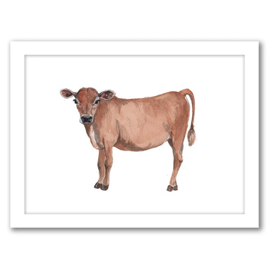 Cow by Cami Monet - Black Framed Print - Wall Art - Americanflat