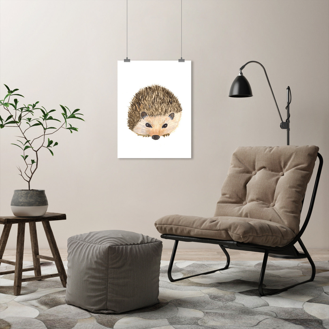 Hedgehog by Cami Monet - Art Print - Americanflat