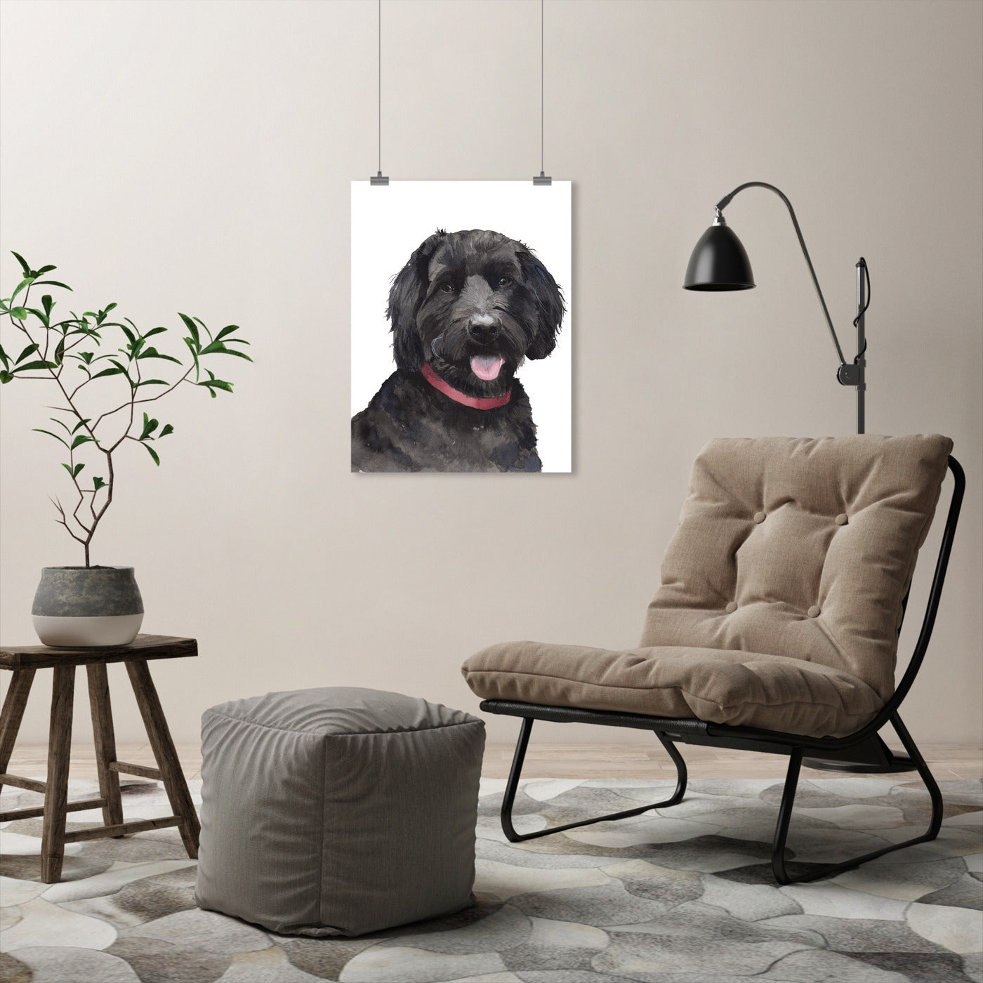 Molly Pet Portrait by Cami Monet - Art Print - Americanflat