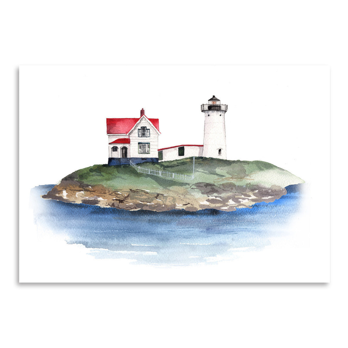 Nubble Lighthouse by Cami Monet - Art Print - Americanflat