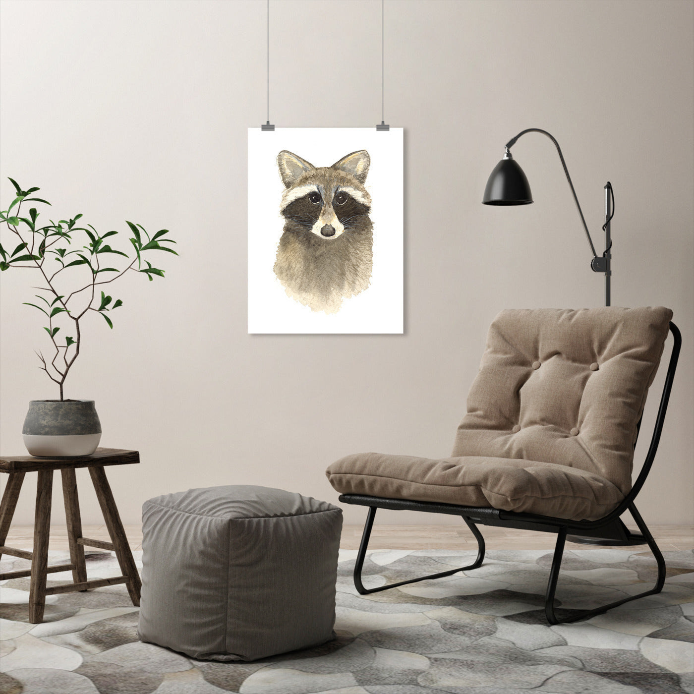 Raccoon by Cami Monet - Art Print - Americanflat