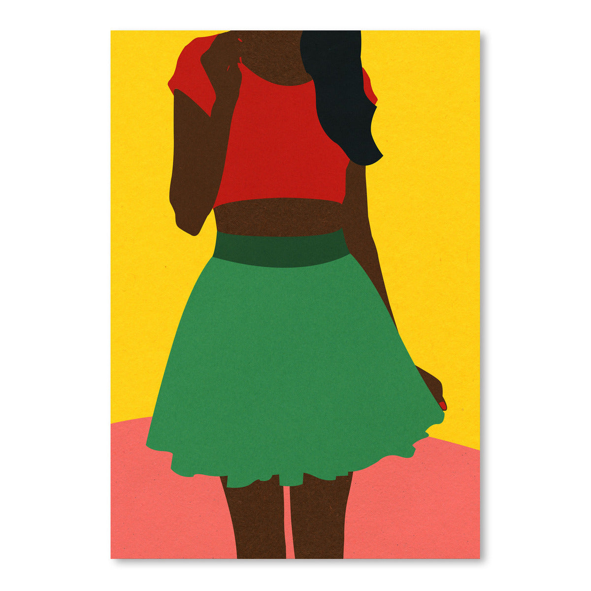 Girl With Top And Skirt by Rosi Feist - Art Print - Americanflat