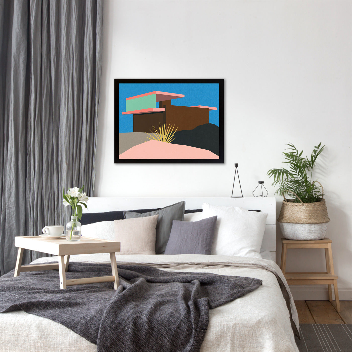 Kaufmann Desert House Ii by Rosi Feist - White Framed Print - Wall Art - Americanflat