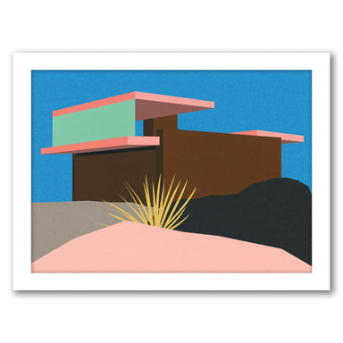 Kaufmann Desert House Ii by Rosi Feist - Black Framed Print - Wall Art - Americanflat