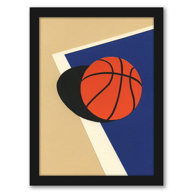 Oakland Basketball Team by Rosi Feist - White Framed Print - Wall Art - Americanflat