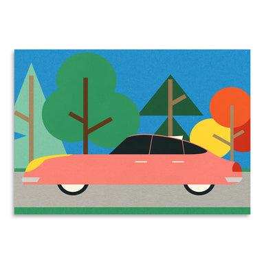 Old School Future Car by Rosi Feist - Art Print - Americanflat