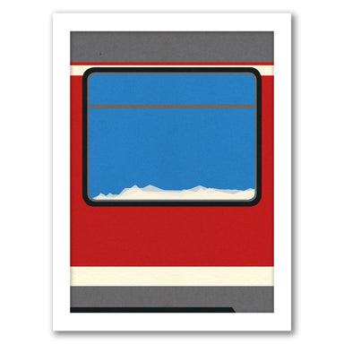Red Train by Rosi Feist - Black Framed Print - Wall Art - Americanflat