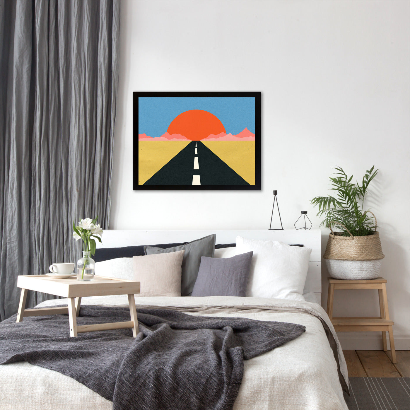 Road To Sun by Rosi Feist - Black Framed Print - Wall Art - Americanflat