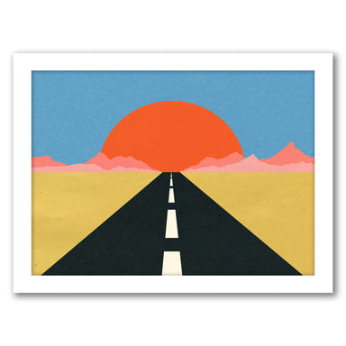 Road To Sun by Rosi Feist - White Framed Print - Wall Art - Americanflat