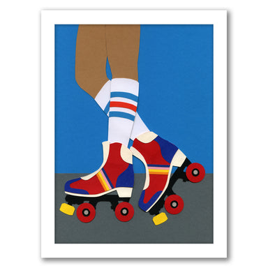 Roller Skate Girl by Rosi Feist - Black Framed Print - Wall Art - Americanflat