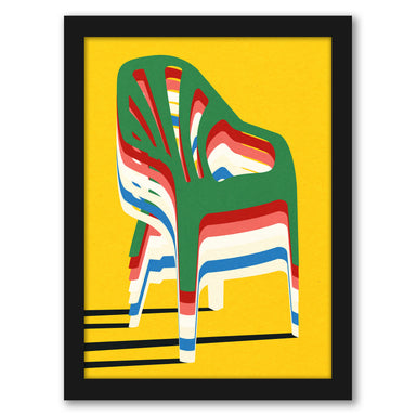 Stack Of Chairs by Rosi Feist - Black Framed Print - Wall Art - Americanflat
