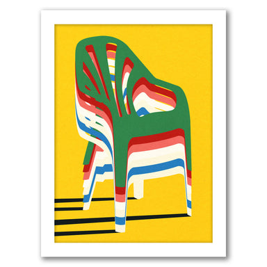 Stack Of Chairs by Rosi Feist - White Framed Print - Wall Art - Americanflat