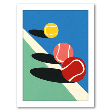 Tennis Balls by Rosi Feist - White Framed Print - Wall Art - Americanflat