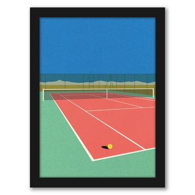 Tennis Court In The Desert by Rosi Feist - White Framed Print - Wall Art - Americanflat