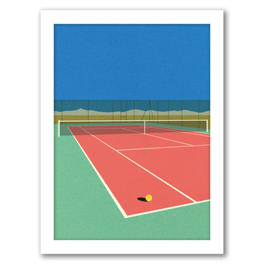 Tennis Court In The Desert by Rosi Feist - Black Framed Print - Wall Art - Americanflat