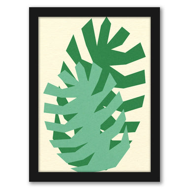 Two Palm Leafs by Rosi Feist - White Framed Print - Wall Art - Americanflat