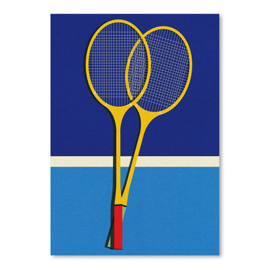 Wooden Badminton Rackets by Rosi Feist - Art Print - Americanflat