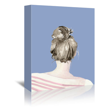 Top Knot Sailor Stripes I (custom) by Jennifer Paxton Parker by World Art Group - Wrapped Canvas - Wrapped Canvas - Americanflat