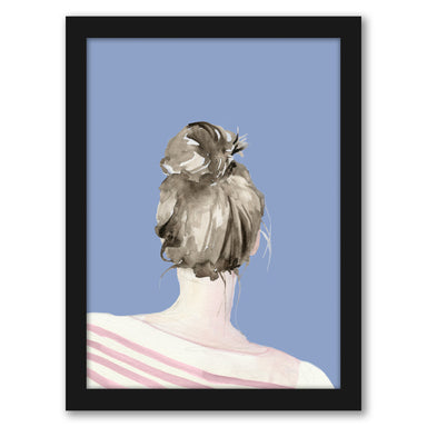 Top Knot Sailor Stripes I by World Art Group - Black Framed Print - Wall Art - Americanflat