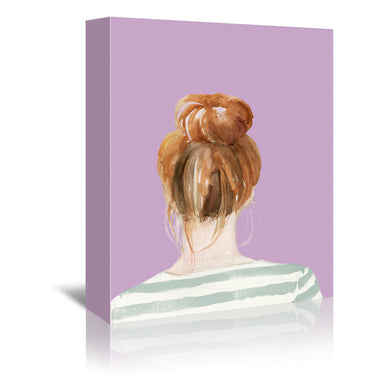 Top Knot Sailor Stripes II (custom) by Jennifer Paxton Parker by World Art Group - Wrapped Canvas - Wrapped Canvas - Americanflat