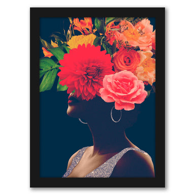 Fleur Collage I by Victoria Borges by World Art Group - Black Framed Print - Wall Art - Americanflat