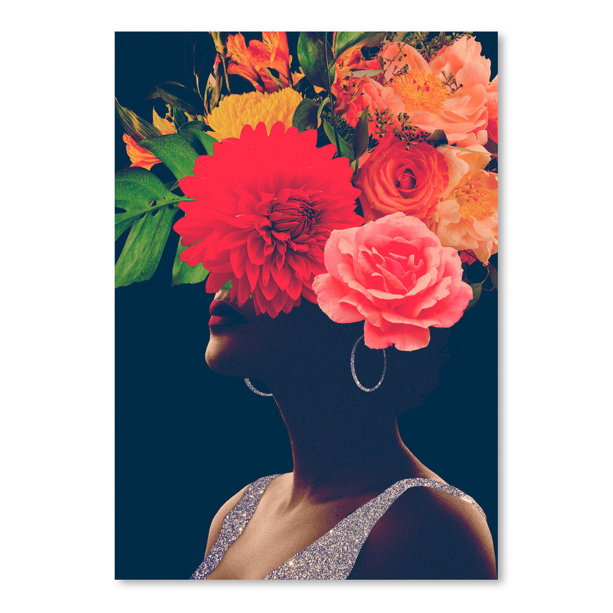 Fleur Collage I by Victoria Borges by World Art Group, Art Print, World Art Group