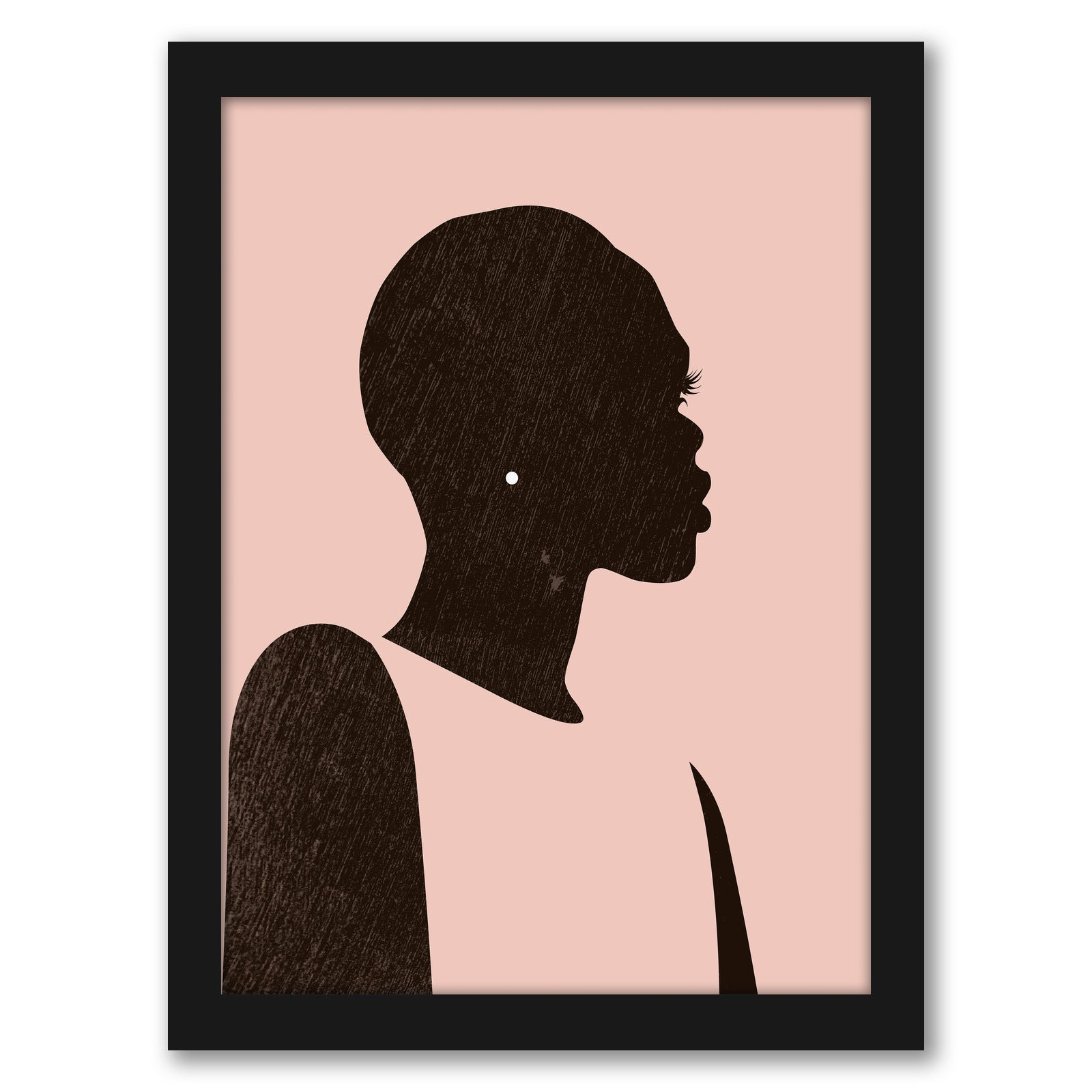 Pink Silhouette II by Jennifer Paxton Parker by World Art Group - Black Framed Print - Wall Art - Americanflat
