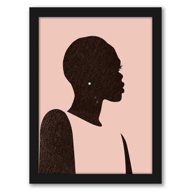 Pink Silhouette II by Jennifer Paxton Parker by World Art Group - Black Framed Print, Wall Art, World Art Group
