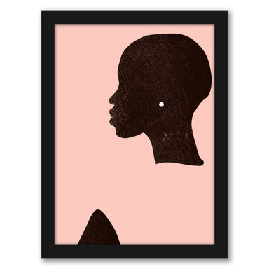 Pink Silhouette I by Jennifer Paxton Parker by World Art Group - Black Framed Print, Wall Art, World Art Group