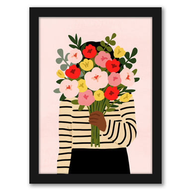 Darling Valentine I by Victoria Borges by World Art Group - Black Framed Print - Wall Art - Americanflat