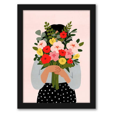 Darling Valentine II by Victoria Borges by World Art Group - Black Framed Print - Wall Art - Americanflat
