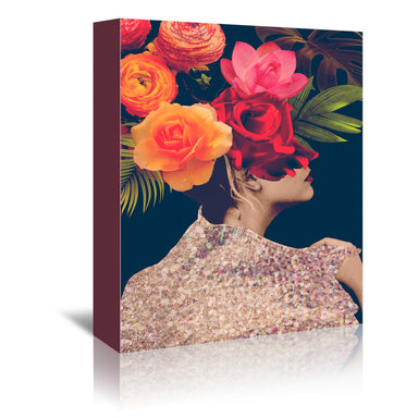 Fleur Collage II by Victoria Borges by World Art Group - Wrapped Canvas, Wrapped Canvas, World Art Group,