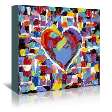Mosaic Heart II by Carolee Vitaletti by World Art Group - Wrapped Canvas - Wrapped Canvas - Americanflat