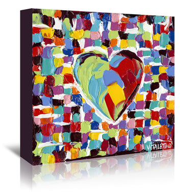 Mosaic Heart I by Carolee Vitaletti by World Art Group - Wrapped Canvas - Wrapped Canvas - Americanflat