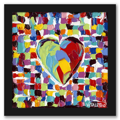 Mosaic Heart I by Carolee Vitaletti by World Art Group - Black Framed Print - Wall Art - Americanflat