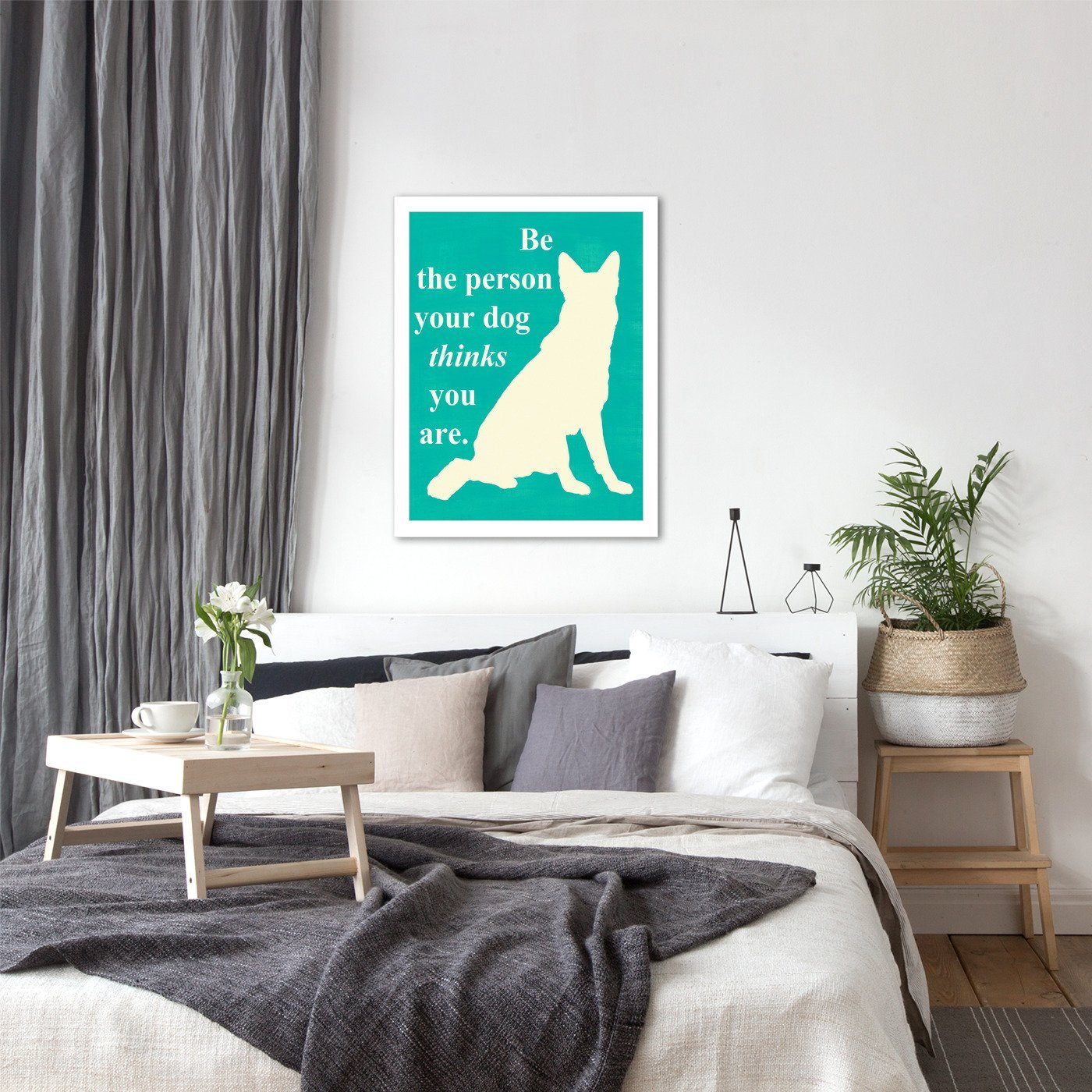 Be the Person Your Dog Thinks You Are by Vision Studio by World Art Group - White Framed Print - Wall Art - Americanflat