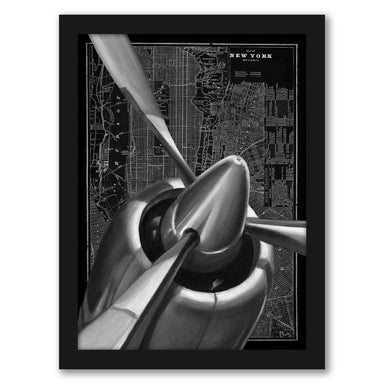 Vintage Plane I by Ethan Harper by World Art Group - Black Framed Print - Wall Art - Americanflat