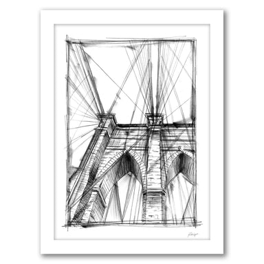 Graphic Architectural Study III by Ethan Harper by World Art Group - White Framed Print - Wall Art - Americanflat