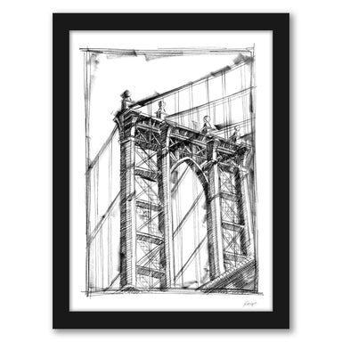 Graphic Architectural Study IV by Ethan Harper by World Art Group - Black Framed Print - Wall Art - Americanflat