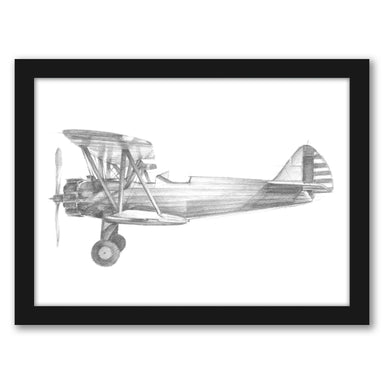 Technical Flight I by Ethan Harper by World Art Group - Black Framed Print - Wall Art - Americanflat