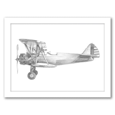 Technical Flight I by Ethan Harper by World Art Group - White Framed Print - Wall Art - Americanflat